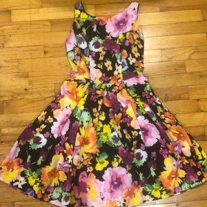 The Limited Bright Floral A-line Dress